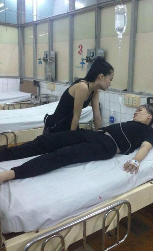 Hình ảnh Mai Thái Anh tại bệnh viện.