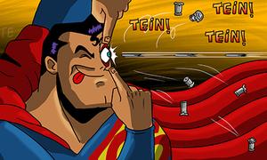 Ảnh hài sức mạnh kinh người của Superman