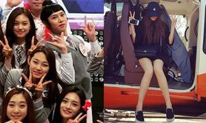 Sao Hàn 29/4: Seol Hyun chân dài hút mắt, Hee Chul giả gái 'trà trộn' nhóm I.O.I