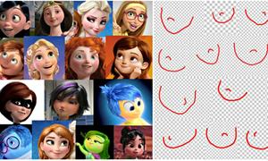 Bằng chứng cho thấy công chúa Disney có khuôn mặt giống hệt nhau