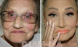 Cụ bà 80 tuổi thành hiện tượng mạng sau khi trang điểm