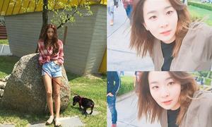 Sao Hàn 13/5: Seul Gi tự tin khoe mặt mộc, Luna lộ đầu gối 'củ lạc'