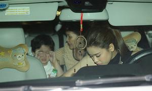Con trai Trương Quỳnh Anh khóc nhè khi đi tiệc cùng mẹ