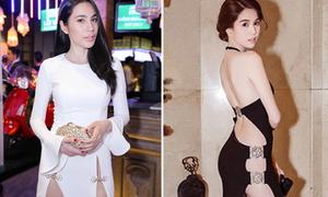 Loạt váy 'không hiểu mặc nội y kiểu gì' của sao Việt