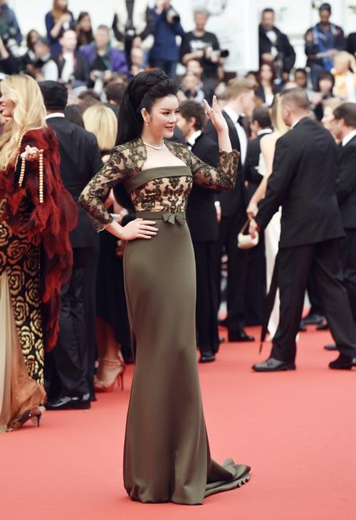 Đât là năm thứ 3 Lý Nhã Kỳ tham dự Liên hoan phim Cannes.