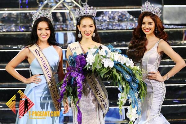 Jiratchaya Sirimongkolnawin, 22 tuổi, có nickname là Nong Mo, tốt nghiệp ngành   thiết kế thời trang của trường Srinakharinwirot University, trở thành Tân Hoa hậu   chuyển giới Thái sau khi giành chiến thắng trước 29 thí sinh khác.