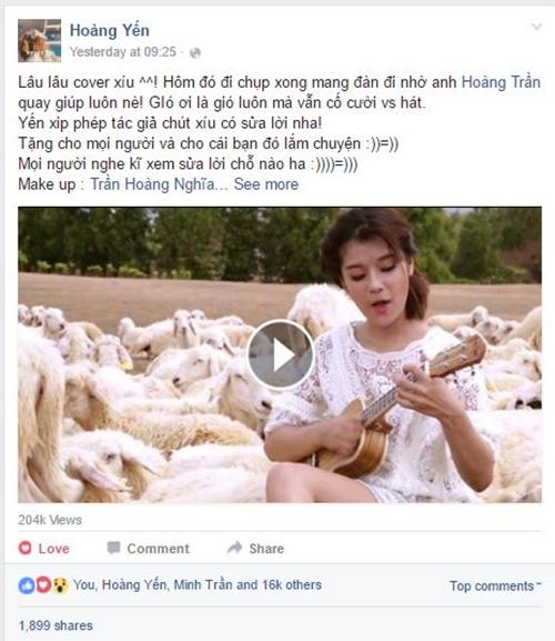 Hoàng Yến Chibi cover ca khúc ngọt ngào tặng 'bạn trai