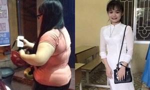 Nữ sinh giảm gần 40kg nhờ chế độ ăn nghiêm khắc