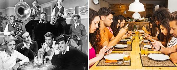 Những cuộc tụ tập, hội họp vui vẻ náo nhiệt đã bị những chiếc smartphone làm biến   chất.