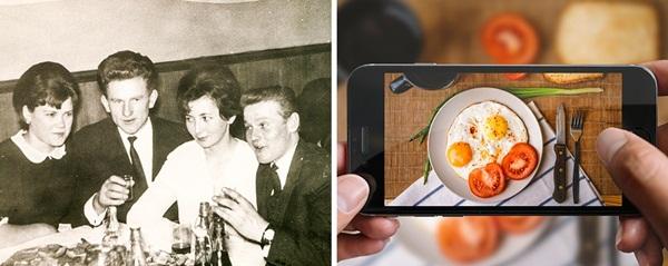 Hẹn đi ăn, thay vì trò chuyện, chụp ảnh với mọi người, nhiều bạn trẻ thời nay chỉ   chăm chăm chụp hình đồ ăn sao cho nghệ thuật để đăng lên mạng.