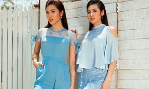 Huyền My - Tú Anh diện đồ hiệu đẹp như chị em sinh đôi