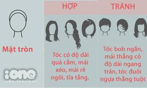 Cách chọn kiểu tóc chuẩn cho từng dáng mặt