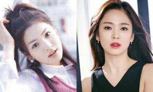 Sao nữ Hàn xinh đẹp hơn khi đổi kiểu mày ngang