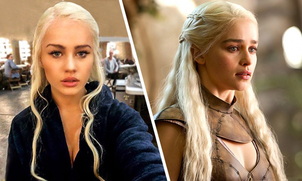 """""""Mẹ rồng""""Emilia Clarke and her body double Rosie Mac"""