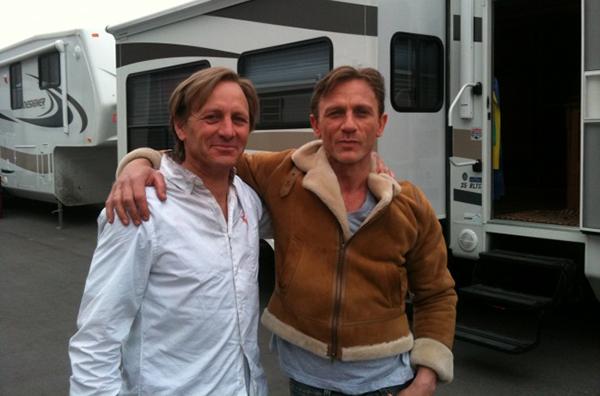 Daniel Craig and his stunt double Garvin Cross,