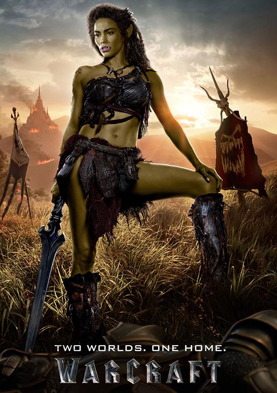 Nữ diễn viên Paula Patton vào vai Ga Garona, một cô gái mang dòng máu lai giữa hai tộc Người và Orc
