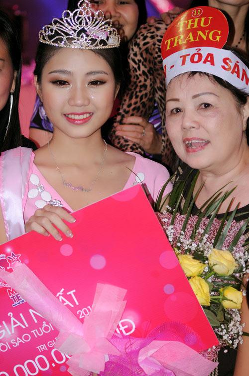 Thu Trang là gương mặt Miss Teen cuối cùng được trao vương miện khi cuộc thi này nói lời chào tạm biệt. Dù không sở hữu chiều cao nổi bật nhưng gương mặt xinh xắn cùng tài năng ca hát đã khiến cái tên Thu Trang được xướng lên tại đêm chung kết.