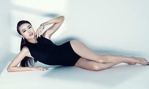 'Cám' Lan Ngọc khoe chân dài với kiểu áo bơi hot nhất hè 2016