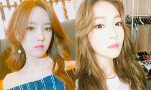 Sao Hàn 3/6: Jessica - Hyo Min mặt giống nhau, Victoria khoe đùi thon
