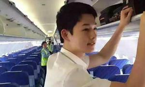 'Soái ca' tiếp viên hàng không giống Song Joong Ki bất ngờ