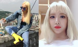 Sao Hàn 9/6: CL trễ nải vai áo khoe vòng 1 sexy, Qri lộ tóc khô xơ