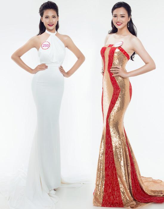 của thí sinh Trần Thị Thùy Trang nổi bật giữa các thí sinh với chiều cao 1m80.