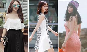 Street style đẹp xinh không sợ nắng của sao, hot girl Việt tuần qua