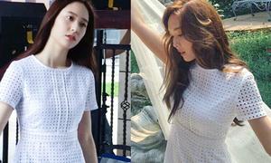 Krystal mặc toàn đồ thiết kế của chị gái trong phim mới
