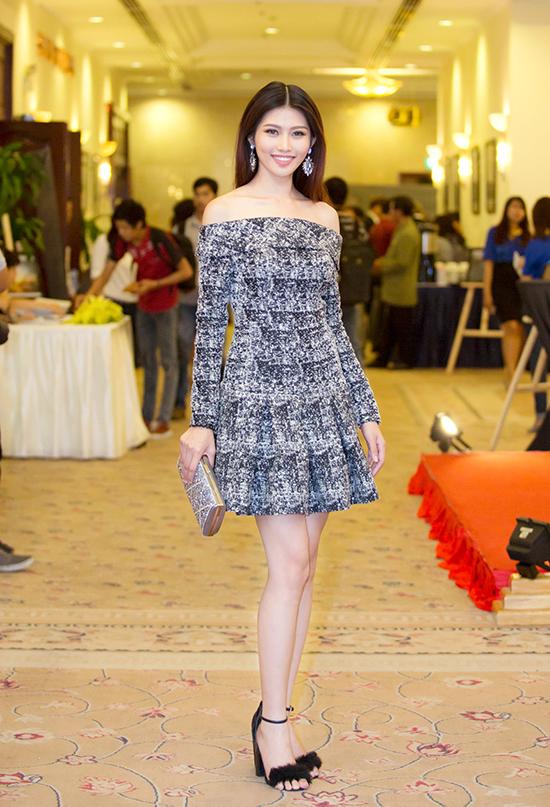 Chiều 15/6, Quỳnh Châu xuất hiện tại buổi họp báo ra mắt Đại nhạc hội Cùng hòa nhịp để làm sạch biển với vai trò khách mời danh dự.
