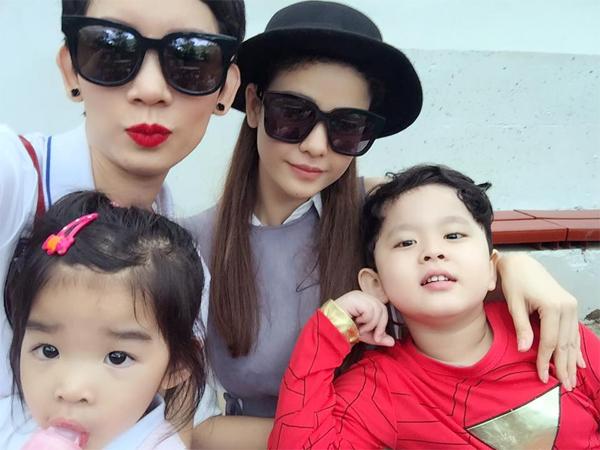 Trương Quỳnh Anh hội ngộ cùng mẹ con siêu mẫu Xuân Lan khi đi sở thú.