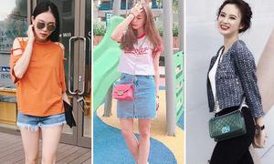 Street style nhiều màu sắc của xì ta, hot girl Việt tuần qua