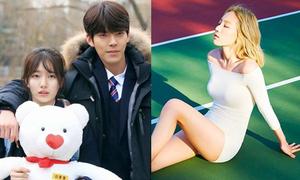 Sao Hàn 22/6: Tae Yeon khoe body với đồ bó sát, Suzy da trắng sứ bên Woo Bin