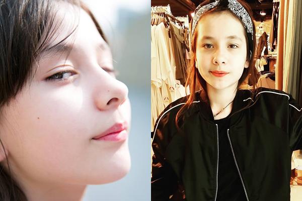 Em gái Lisa có mặt thon, cằm V-line, nét sắc sảo hơn. Lisa từng đóng MV Memory của nhóm nhạc huyền thoại Kpop ShinHwa   năm 2015.