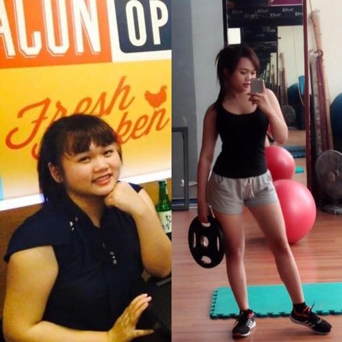 Cô nàng Ánh Smile (Hà Nội) sở hữu thân hình nhỏ gọn, săn chắc sau khi siêng năng đến phòng tập gym.