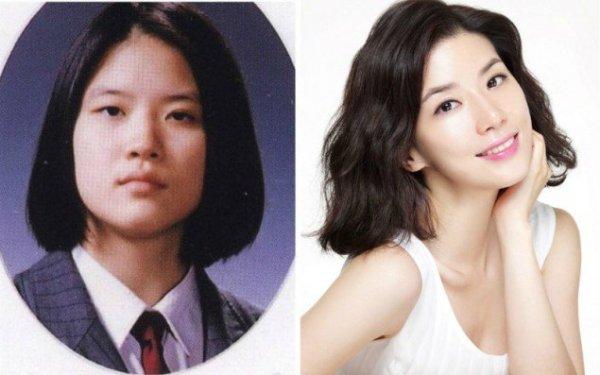 Từng đăng quang hoa hậu, Lee Bo Young được xem là một trong những biểu tượng nhan sắc xứ Hàn. Ngôi sao Đôi tai ngoại cảm được khen ngợi vì đường nét gương mặt thanh tú, tươi trẻ dù đã lập gia đình, sinh con. Cô là tên tuổi bảo chứng ở cả lĩnh vực điện ảnh lẫn truyền hình xứ kim chi. Ảnh 2 Sự thật về nhan sắc vạn người mê của Lee Bo Young bị tiết lộ khi loạt ảnh vịt hóa thiên nga của các đời hoa hậu xứ Hàn được công bố. Có thể thấy, nữ hoàng rating trước đây vốn sở hữu khuôn mặt góc cạnh, đôi mắt nhỏ, chiếc mũi khá thô. Hiện tại, vẻ đẹp thùy mị, rạng ngời của nữ diễn viên đã hoàn toàn chinh phục khán giả.