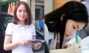 3 cô gái 'gây bão' 2 ngày đầu thi đại học vì xinh đẹp
