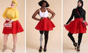 Cụ bà, phụ nữ trung niên, teen girl sẽ mix thế nào với một chiếc váy đỏ