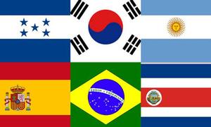 Bạn có thể đọc tên nước chính xác qua lá cờ?