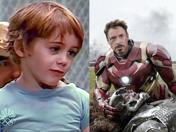 Robert Downey Jr. năm 1970 có vai diễn đầu tiên trong phim Pound (1970) vs. Captain America: Civil War (2016)