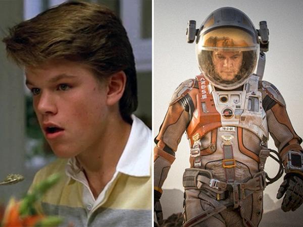 Matt Damon Mystic Pizza (1988) vs. The Martian (2015)