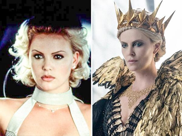 Vai diễn đầu tay của Charlize Theron là trong 2 Days in the Valley  năm 1996. vs. Snow White and the Huntsman 2 (2016)