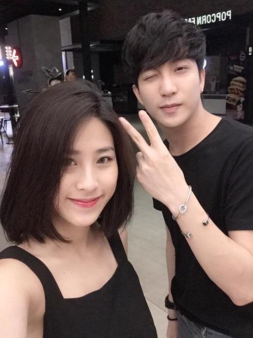 B Trần và bạn gái tin đồn - Diệu Linh.