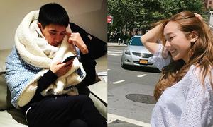 Sao Hàn 14/7: Jessica vuốt tóc cười duyên, D.O quấn chăn kín như ngày đại hàn
