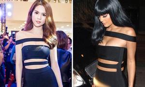 Ngọc Trinh không lộ chút mỡ thừa khi đụng váy hot girl Hollywood