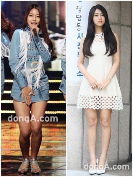 Seol Hyun là sao nữ sở hữu thân hình đẹp nhất năm nay trong cuộc khảo sát gồm 800 chuyên gia. Nữ ca sĩ nổi tiếng nhờ vóc dáng thanh mảnh, khỏe khoắn, đường cong cơ thể hút mắt. Ít ai biết rằng, trong quá khứ thành viên AOA từng sở hữu đôi chân thừa mỡ, má phính. Vẻ đẹp xuất sắc hiện tại giúp nữ ca sĩ trở thành gương mặt quảng cáo rất được yêu thích, được phong bảo vật quốc dân mới của Kpop bên cạnh Yoon Ah, Suzy, Tzuyu.