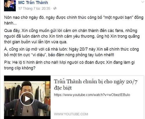tran-thanh-up-mo-chuyen-cong-bo-tin-vui-fan-doan-ket-hon-voi-hari-won