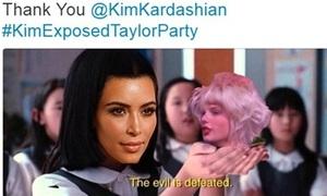 Ảnh chế: Kim lên ngôi vì đã 'đập tan gian dối' từ Taylor Swift