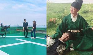 Sao Hàn 20/7: Lee Jong Suk đứng làm dáng, Yoo Jung - Bo Gum ngọt ngào