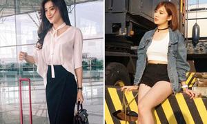 Sao style 23/7: Tú Linh khoe chân sexy, Huyền My ra sân bay như đi tiệc