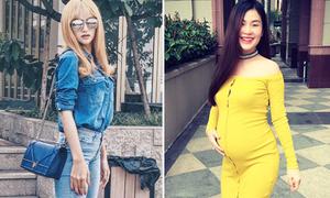 Sao style 28/7: Hương Giang gầy nhắng, Diễm Trang diện váy bó khoe bụng bầu
